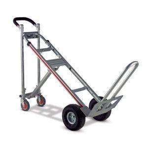 Carretilla convertible 3 posiciones 4 ruedas inclinada