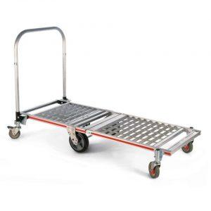 Carro plataforma plegable de 6 ruedas