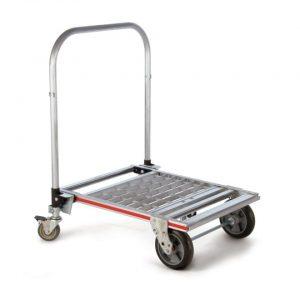 Carro plataforma plegable de 4 ruedas