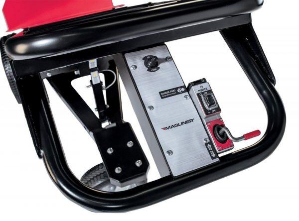 Carretilla de mano motorizada con 3 ruedas de espuma cuadro de mandos