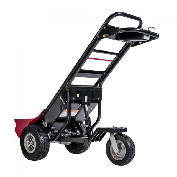 Carretilla de mano motorizada con 3 ruedas de espuma y pala de carga