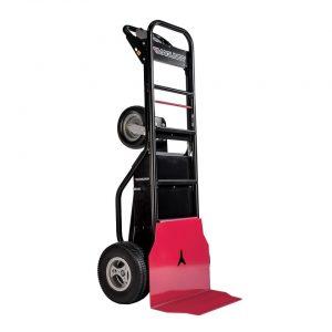Carretilla de mano motorizada con ruedas de espuma y pala de carga