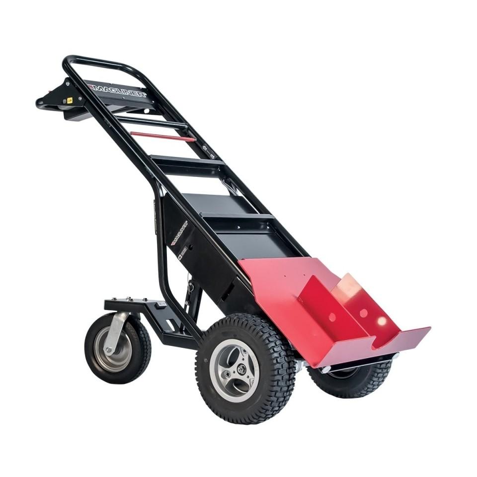 Carretilla manual motorizada con empujador de postes