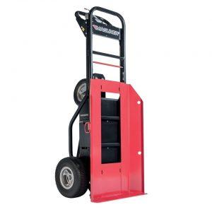 Carretilla manual motorizada con placa para bombonas ruedas rellenas de espuma